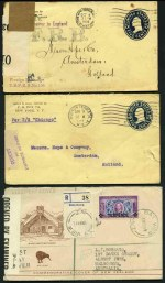 Accumulation of 544 First Day and Commercial covers and Postal Stationery items including Post Cards, Censor covers, instructional markings and more from a range of countries and periods. Main strength in U.S.A. Usual variable condition.
