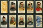 Selection of 96 cigarette cards including Taddy & Co 1901 Victoria Cross Heroes (6), 1902 V.C. Heroes (14), 1912 British Medals and Ribbons (5), Godfrey Phillips 1902 Beauties numbered B801-B825 (4), Players 1907 Highland Clans (20), 1923