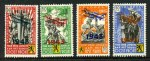 1943 Flemish Legion propaganda vignette set of 4 with 1943 Aircraft overprints MLH. Mi V-VIII. Catalogue Value Euro 320.00.