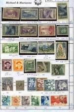 Collection of hundreds of mint and used stamps on circuit sheets from a range of periods, including useful items from Andorra, Austria, Belgium, Finland, France, Greece, Luxembourg, Monaco, Switzerland and West Berlin. Noted Andorra French Post Office 1932-43 55�, 1f50 Blue, 1f75 Violet, 1f75 Deep Blue (2) and 2f15 Violet Pictorial Definitives MLH and 1950 100f Chamois Air MLH, Austria 1948 Artists set FU, 1949 Prisoner of War Fund set FU and 1950 60g + 15g Carinthian Plebiscite FU, Belgium 1930 Anti-tuberculosis set MLH (2) and 1960 Refugee Fund miniature sheet MLH, Luxembourg 1865-75 12��, 20� and 40� roulettes mint, West Berlin 1951 30pf Bell with clapper at right FU (3) and more. Condition varies, but includes numerous better items in fine condition. Priced to sell at $2,564.00. Catalogue Value over �5,000.00.