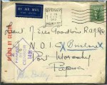 1943-1951 selection of 40 Royal Australian Navy WWII Censor covers mostly handled through shore-based Forces Post Office's including a range of Field Post Office cancellations, Censor markings, Censor seals and many registered. Noted 1943 inwards cover to