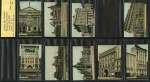 Sniders & Abrahams 1914 Melbourne Buildings part set of 34/44, plus 10 duplicate cigarette cards. All cards have been trimmed.