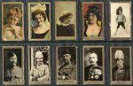 ATC and BAT selection of 314 mainly different cigarette cards including  1895 National Flags & Arms (20), 1900 Celebrities (21), 1900 Military Uniforms