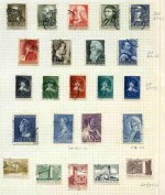 Collection of hundreds of fine used stamps on album leaves, including a good range of highly catalogued 1950's sets. Catalogue Value over �700.00.