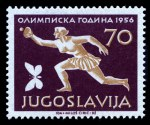 1956 Olympics set MLH and well centered. Sg 835-842. Catalogue Value �225.00.