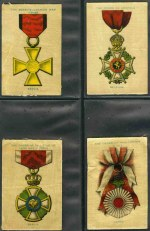 Wills selection of 428 mainly different cigarette cards including 1902 Soldiers of the World (7), 1908 Girls of all Nations (58), 1908 Views of the World (38), 1908 Flag Girls of All Nations (25), 1910 Kings and Queens of England silks (19), 1910 Types of the Commonwealth Forces (30), 1914 Best Dogs of Their Breed (30), 1915 War Medals large silks (48), 1915 Victoria Cross Heroes (5), 1916 Crest and Badges of the British Army silks (22), 1916 Flags lace (3) 1917 Sports of the World (50), 1925 Famous Film Stars (15), 1929 Crests and Colours of Australian Universities, Colleges & Schools (38) and more, plus 20 different Sniders and Abrahams cards in cigarette card album. Some faults, but many in G/VG condition. Murray's 2012 catalogue value £1,335.00.