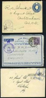 Selection of 33 covers and miscellaneous items, mainly from Germany and Great Britain with strength in WWII era, including Field Post Office covers, Censor covers, Telegrams, Local stamps on cover, First Flight covers and part Canadian Ration stamp booklet. Also 12 photos or postcards of German soldiers, including some of high ranking SS Officers.