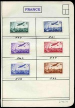 Selection of MLH stamps from 1924 to 1937, including 1924 Decorative Arts set, 1930 1f50 + 3f50 Sinking Fund, 1935-36 1f50 Indigo and 1f50 Greenish-Blue Normandie, 1935 3f50 St. Trophime, 1935 75� Savings Bank Congress, 1935 1f50 French Academy, 1936 Air set to 3f50 value, 1936 75� Amp�re, 1936 Paris Exhibition set, 1936 Intellectuals Fund set and more. Catalogue Value �840.00.