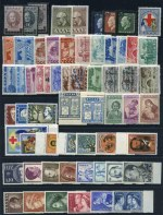 Selection of MUH stamps with strength in 1950's issues, including 1940 Balkan Entente set, 1950 1000d Blue Battle of Crete, 1953 National Products set, 1956 2d Ultramarine Rotary, 1956 Royal Family set, 1957 Solomos set, 1960 Olympic Games set and more. Catalogue Value �460.00.
