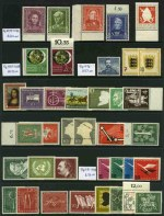 Collection of many hundreds of MUH and MLH stamps from a range of periods, with some highly catalogued items, including Allied Occupation Zones, East Germany, West Germany and a few Danzig and Saar.