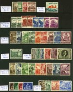 Selection of 111 MUH stamps from 1935 to 1943, with a range of better items including  1935 Railway Centenary set (2), 1938 Gautheater set, 1938  Winter Relief Fund set, 1939 International Motor Show set, 1939 Postal Employees set, 1939 Winter Relief Fund set, 1940 24pf + 76pf Berlin Philatelic Exhibition, 1940 42pf + 108pf Brown Ribbon, 1940 6pf + 94pf Heligoland, 1940 Winter Relief Fund set, 1941 Postal Employees set and more. Catalogue Value �1,291.00.