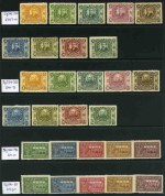 Small collection of MUH and MLH stamps with some Provinces, Manchukuo and early Taiwan on Hagner sheets. Noted 1909 Temple of Heaven set MLH, 1912 Commemorating the Revolution and Commemorating the Republic sets to 50� value MLH with some paper adherence, 1936 Postal Service set MUH, 1941 Sun Yat-sen 4th series MUH, 1945 Memory of President Lin Sen set MUH, 1973 Archeological Treasures set MUH and Manchukuo Visit of Emperor Kang-teh set MUH and 1937 Japan's Extra-territorial Rights set MUH. Odd fault. Catalogue Value �871.00.