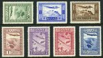 1933 Government Air set MLH. Sg 468-474. Catalogue Value �274.00.
