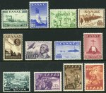 1946-47 First Victory set, 1948 1000d Second Victory and 1949 Abduction of Greek Children set MLH. Sg 646-653 and 682-685. Catalogue Value �150.00.