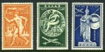 1954 Nato set mint hinged. 1200d with thin. Sg 725-727. Catalogue Value �150.00.