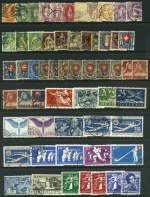 Selection of 166 used stamps from early to 1950's, with main strength in Switzerland and Germany. including useful items and some duplication. Mixed condition. High catalogue value.