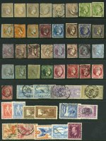 Selection of 123 used stamps from early to 1950's, including a range of Hermes Head issues and useful items with some duplication. Mixed condition. High catalogue value.