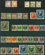 Collection of 101 different used stamps from 1876 to 1920 including 1876 Postage Due set with Wmk horizontal wavy lines, 1879 1m Pale Mauve Arms with Wmk wavy horizontal lines, 1914 20m Deep Brown King Ludwig III, 1919 People's State Issue perforated O/P set, 1919-20 Official O/P set, 1919-20 Second Free State Issue perforated O/P set and 1920 1m, 1�m, 1�m, 2�m, 3m and 5m High value Officials. Odd minor fault. Catalogue Value �2,337.00.