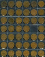 Complete set of Pennies from 1911 to 1964, excluding 1925, 1930 and 1946. Includes several different mintmarks. Earlier issues usual lower circulated grades.