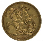 1889 Melbourne Mint Queen Victoria Type 2 Jubilee Head Gold Sovereign F. McDonald 179a.