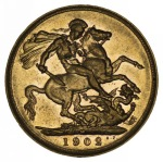 1902 Melbourne Mint KEVII Gold Sovereign VF.