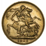 1905 Melbourne Mint KEVII Gold Sovereign F.