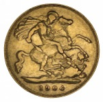 1904 Perth Mint KEVII Gold Half Sovereign with no BP F. McDonald 061.