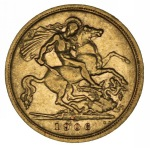 1906 Sydney Mint KEVII Gold Half Sovereign F.