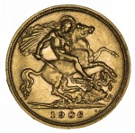 1906 Sydney Mint KEVII Gold Half Sovereign VF.
