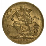 1905 Perth Mint KEVII Gold Sovereign VF.