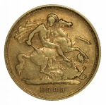 1903 Sydney Mint KEVII Gold Half Sovereign F.