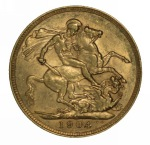 1904 Sydney Mint KEVII Gold Sovereign VF.