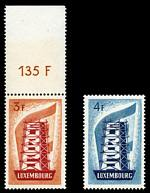 1956 3f and 4f Europa MUH. Fine and fresh. Sg 610-611. Catalogue Value £141.00.