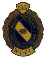 1951, 1962, 1963, 1964, 1965, 1966, 1969, 1969, 1970, 1971 and 1972 West Torrens Football Club badges, plus 1975 West Torrens Football Club Junior badge. (12 badges). VG condition.