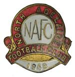 1948, 1949, 1951, 1952, 1953, 1954, 1955, 1956, 1983, 1984 and 1987 North Adelaide Football Club badges, plus 1973 Tie clip badge. (12 badges). VG condition.