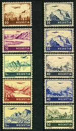 1941-48 Airmail set MLH. Sg 415-422. Catalogue Value £130.00.