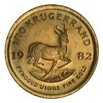 1982 1/10 oz Krugerrand Gold coin Unc.