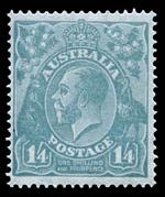 1926-28 3d Blue Type B, 4d Olive and 1/4 Blue Small Multiple Wmk perf 14 KGV MLH. 3d with small mark on neck.
