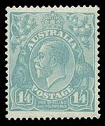 1932 C of A Wmk KGV set including extra shade variations of some values and the 2d value with inverted Wmk, MUH and well centered. (18 stamps). Retail $634.00++.