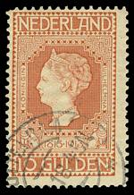 1913 10g Orange Centenary of Independence fine used and centered to upper left Sg 225. Catalogue Value £1,100.00.