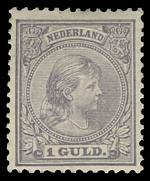1890-1894 1g Slate-Violet Queen Wilhemina in fine MLH condition. Sg 157. Catalogue Value £900.00.