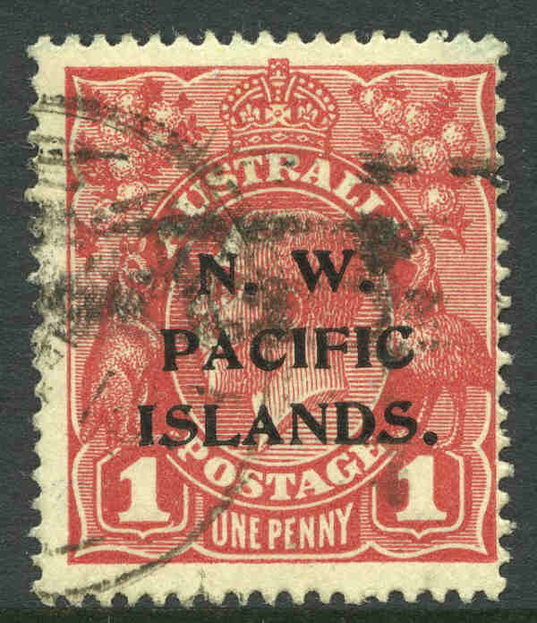 1915 1d Carmine Red Die II KGV Type C good used and centered to right. Sg 67c. Retail $425.00.