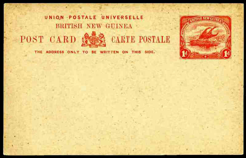 1901 1d red on buff postcard unused. 4,558 cards were issued. ASC PC1.