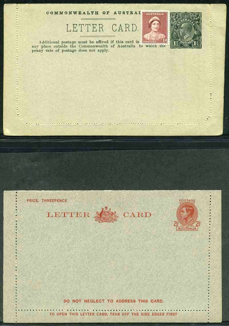 1918-20 1½d Greenish-Black perf 12½ KGV showing view