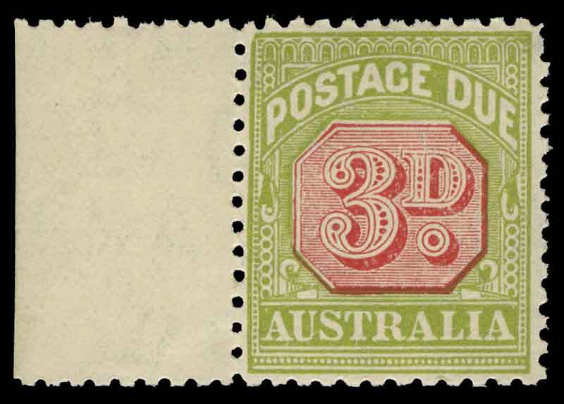 1931-37 C of A Wmk Red and Green Victorian Design Postage Due set excluding 6d value, the 1d and 2d values both perf 14 and perf 11 MUH. Retail $700.00.