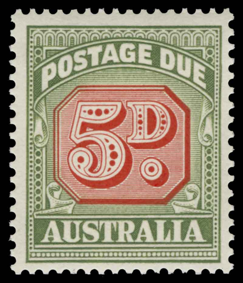 1958-1963 No Wmk Postage Due set including 5d Die II (2) and both dies of ½d, 1d, 4d, 8d and 1/- values MUH and well centered. Retail $420.00.