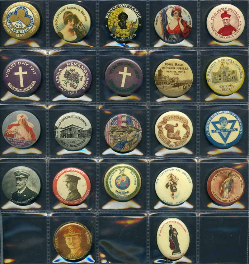 Collection of 37 different attractive Patriotic, Commemorative and Appeals Badges from 1917 to 1941. VG condition.
