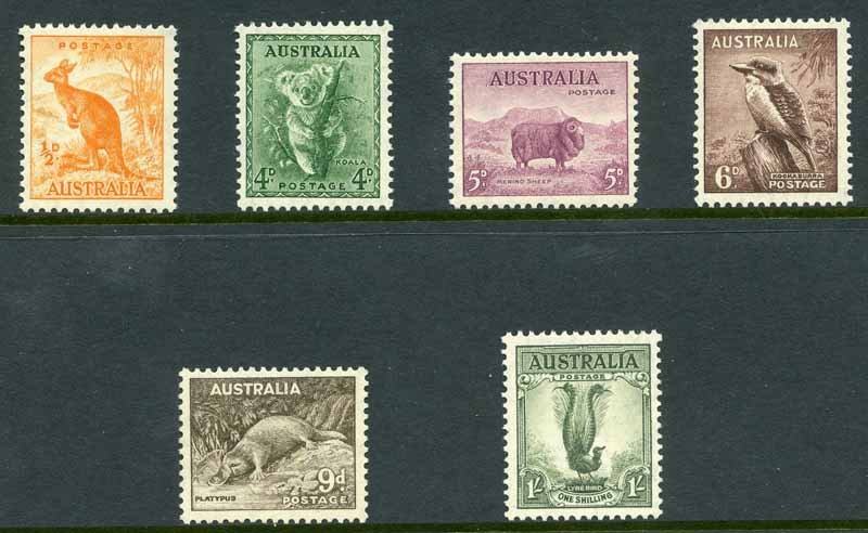 1937-38 Perf 13½ Zoological set MUH and reasonably well centered.