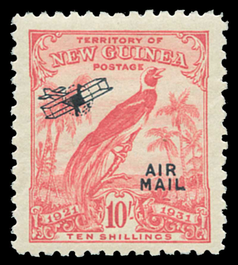 1931 Dated Birds of Paradise set to 10/- value O/P Airmail in fine MLH condition. 10/- value exceptionally well centered and several lower values MUH. Sg 163-175.