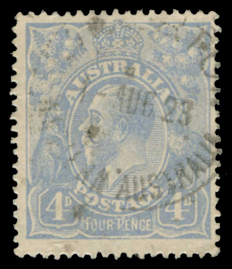 1922 4d Dull Blue Single Wmk KGV with Thin